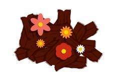 Gebruik gemalen hout of schors om je perken te beschermen van onkruid